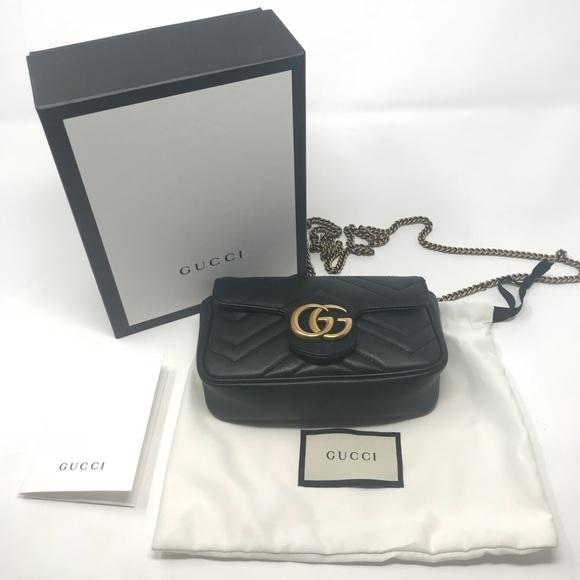 025c6488bdf2 Gucci Handbags - GUCCI Marmont Matelassé GG Super Mini Bag